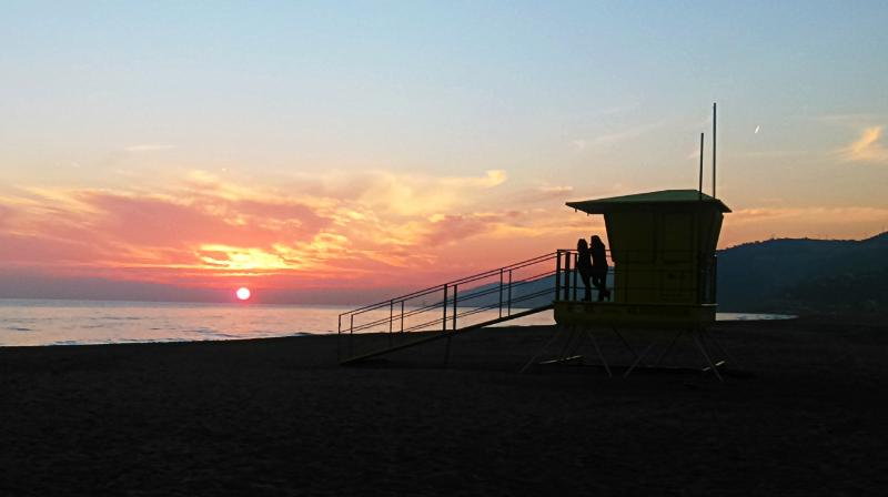 Breathtaking sunsets on our beach, especially in winter