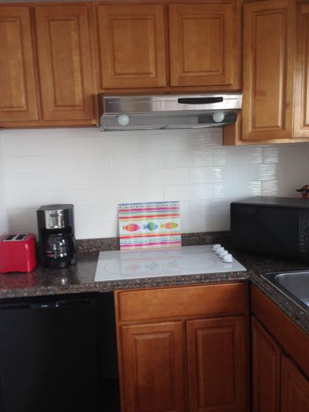 Kitchen with electric stove top