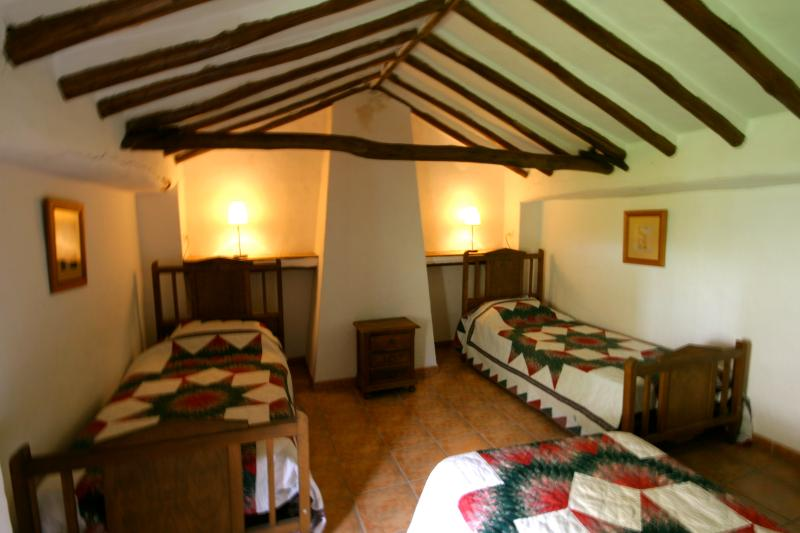 The upstairs triple bedroom. Spacious and cosy