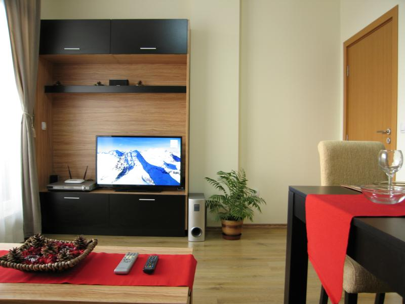 Living room with kitchenette