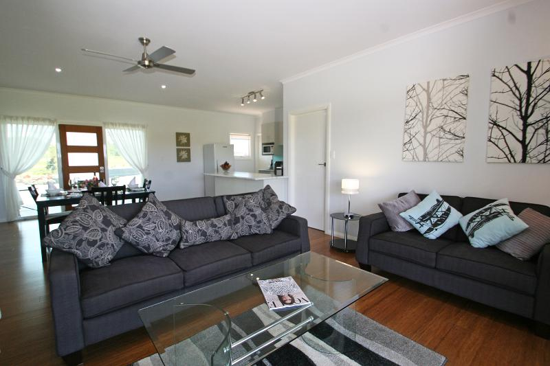 Comfortable lounge area with TV/DVD
