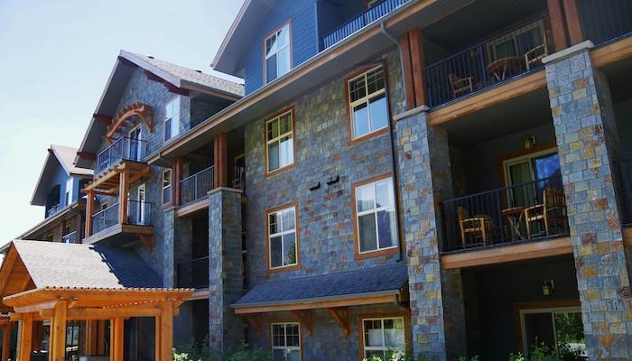 The resort's stunning exterior