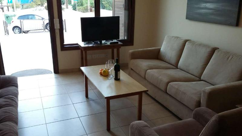 The living room to relax with a glass of wine and watch TV!!!