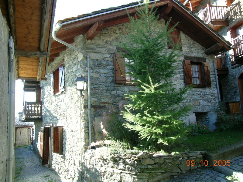 Casa tipica in pietra, holiday rental in Chamois