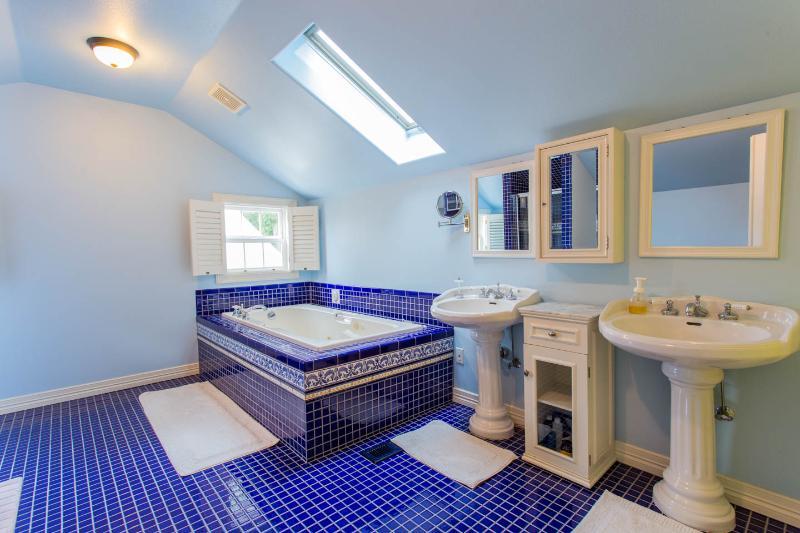 Designer soaking tub