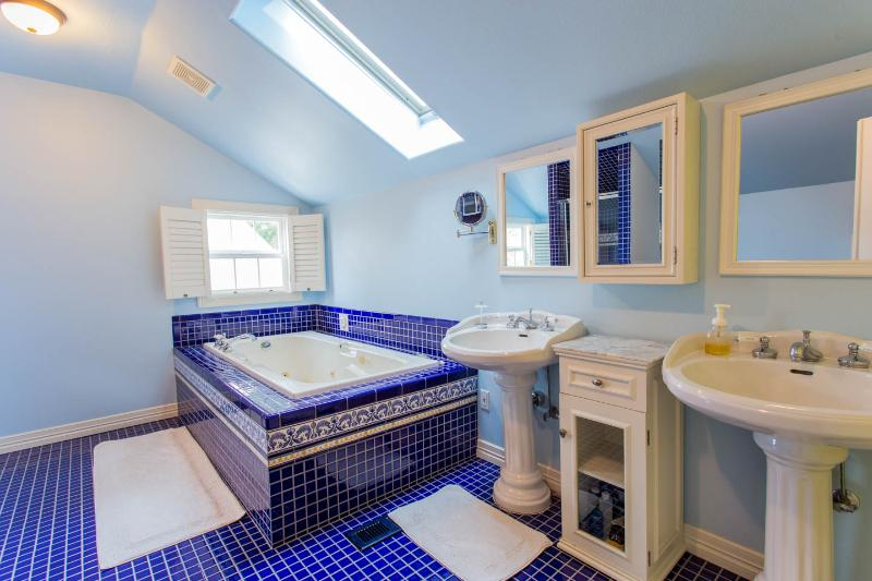 Tub and twin sinks