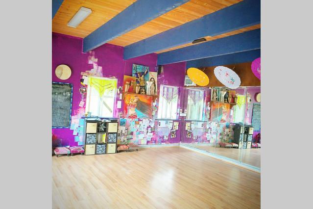 The dance/yoga studio on the grounds
