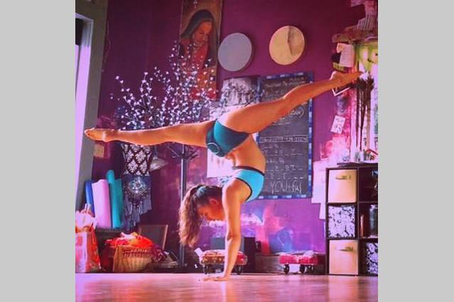 Sergia Anderson enjoys our dance/yoga studio