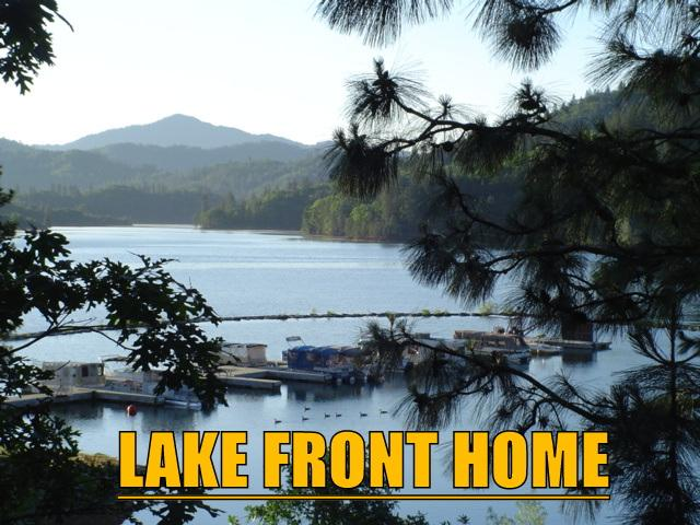 Lake Front at Shasta.  View from deck when lake is full.  Shasta Lakeshore Retreat.   Full Lake soon
