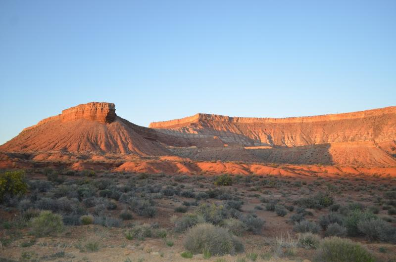 From State Hiway 9 as you leave La Verkin going to Zion NP