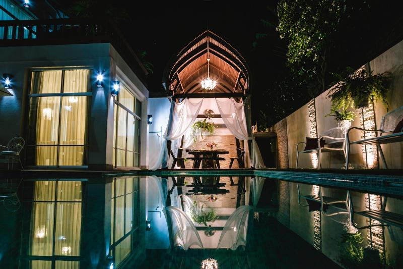 Swimming pool at the villa