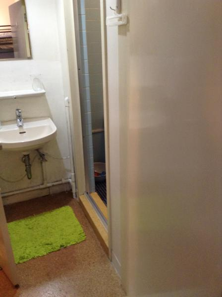 Bath room and shower.