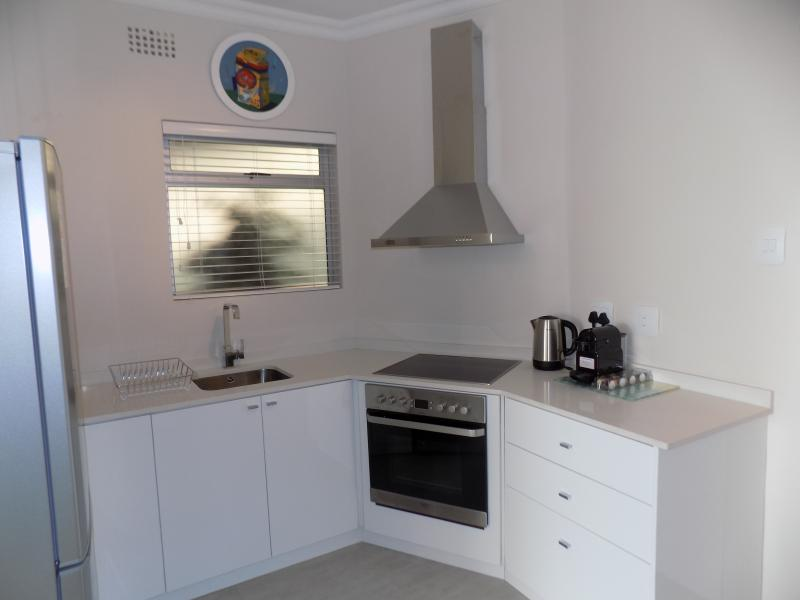 New modern Kitchen, Nespresso Machine, Oven, Stove, Large Fridge Freezer and Microwave plus utensils