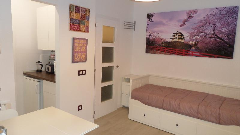Living/dining room with sofa-bed for 2 people. TV and internet