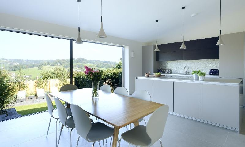 A contemporary and highly comfortable 4 bedroom house with stunning views over the Lym Valley