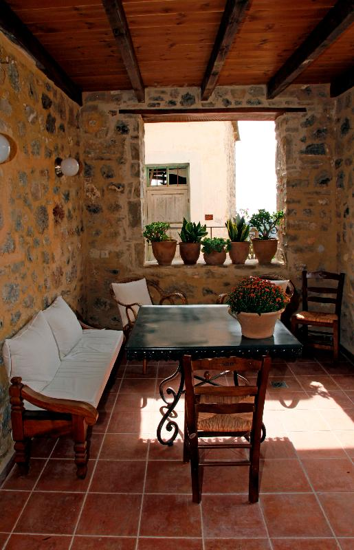 Ground Level: The patio next to the courtyard