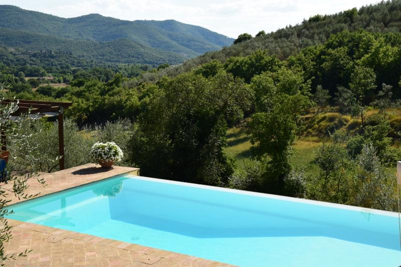 Tuscany cottage near Castiglion Fiorentino, with Private Pool, BBQ, & Parking, vacation rental in Pieve di Chio
