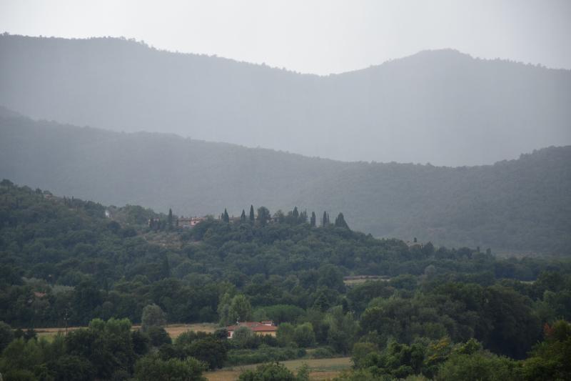 Vista de Val Di Chio de la casa