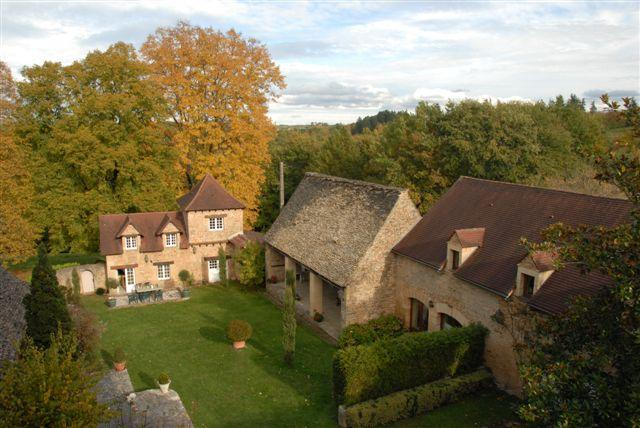 View from the Tower of the Manor on the 2 cottages. secure internal space.