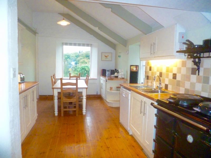 Cocina de la casa espacioso y luminoso