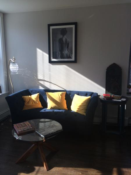 Beautiful sunny 2 bedroom apt with 2 2 full bathrooms. Located in historic downtown. Walk to path .