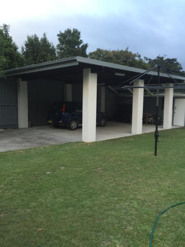 4 car carport under cover parking.