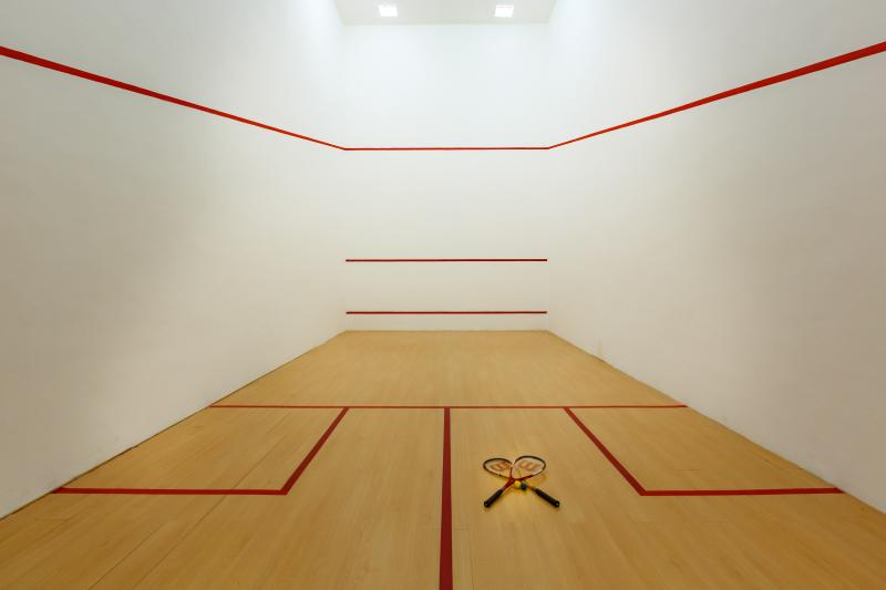 Villa Aqua private Squash court