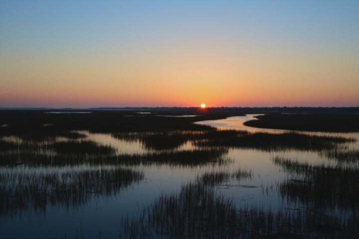 Charleston Area Tidewater Marshes at Sunrise