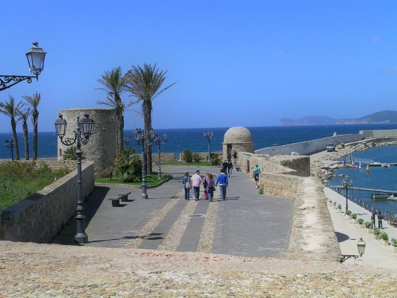 La vista mare dalle mura di Alghero