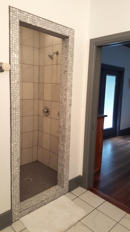 Walk in shower; master bath