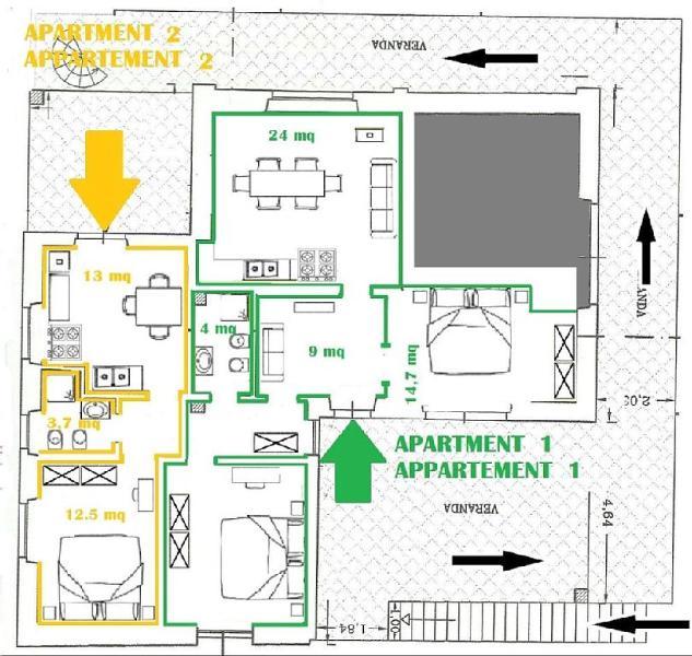 Affittiamo separatamente due appartamenti - Appartamento 1 & Appartamento 2