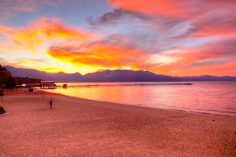 We are located behind the Marina ON Lake Tahoe