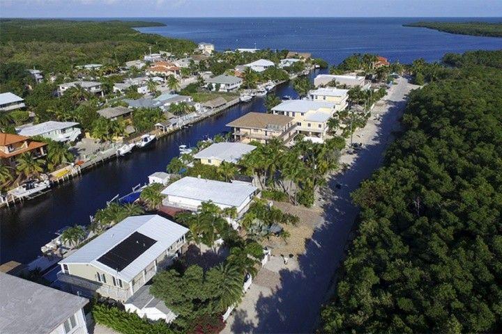 Vista aérea de la comunidad.