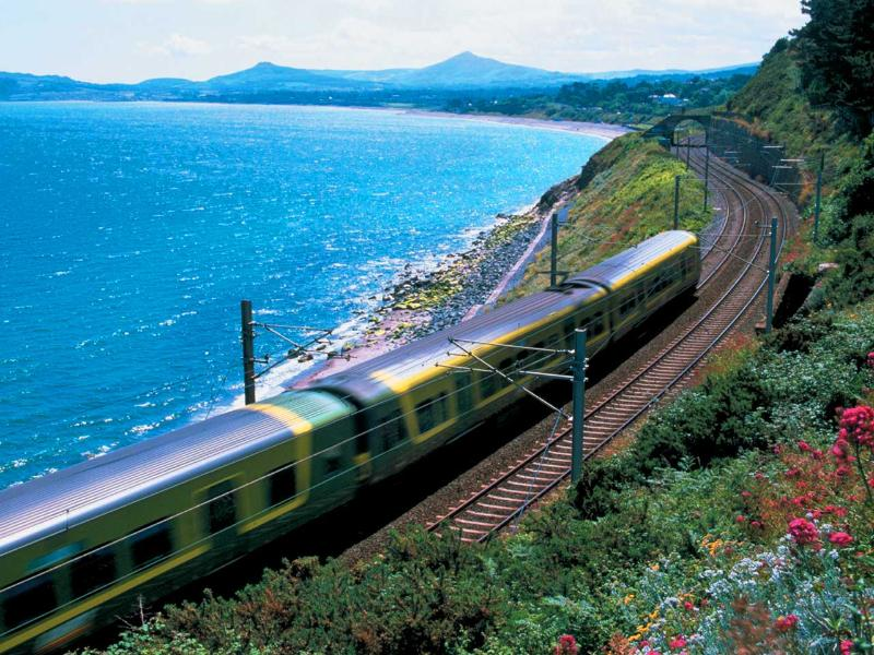 Dart Local train stop at Sandycove/Glasthule 7 mins walk from house