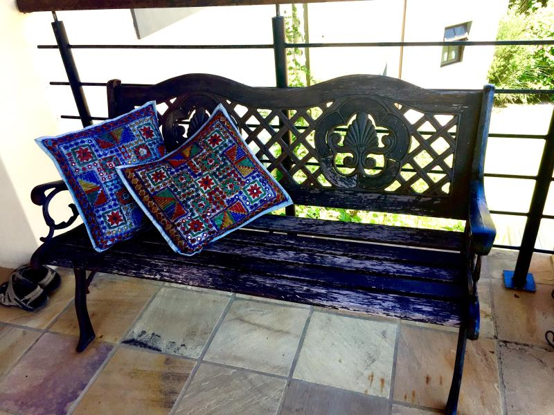 Bench outside from door