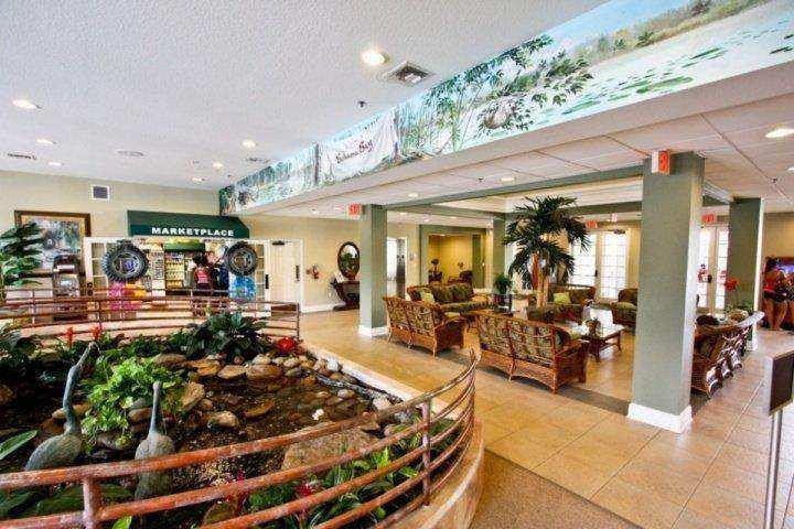 The lobby at at Bahama Bay Resort and Spa
