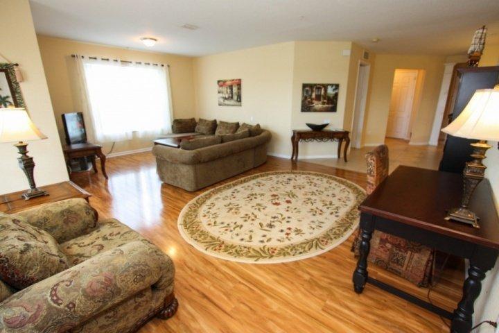 Open Living Area with Beautiful Hardwood Flooring