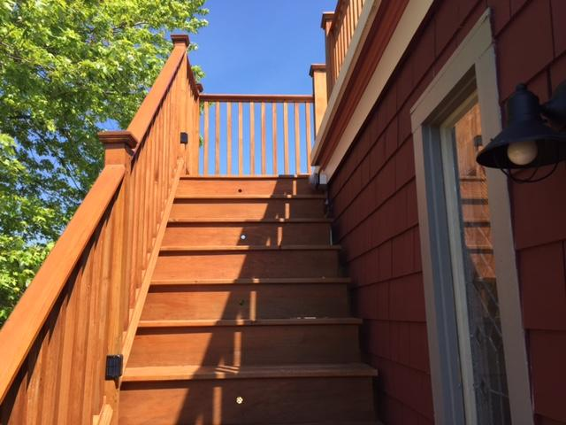 Stairs to New Ocean View Roof Deck