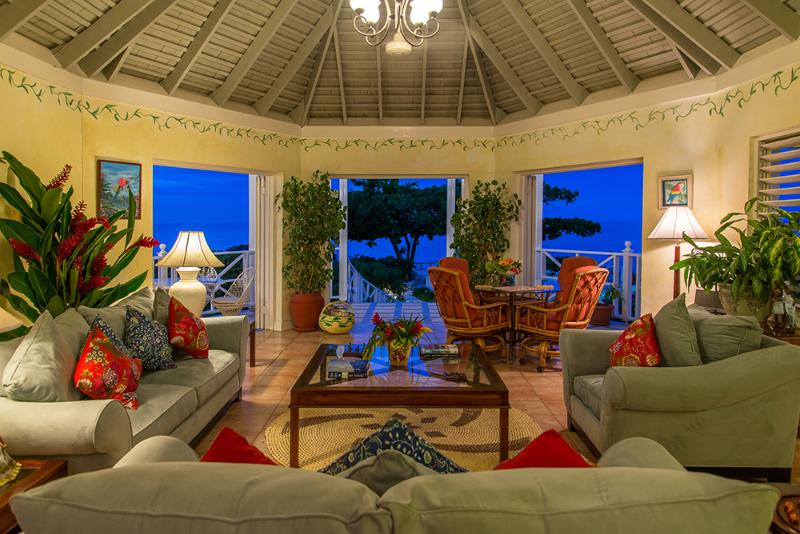 Interiors have high Caribbean-style ceilings ... bright, cheerful and extremely comfortable.