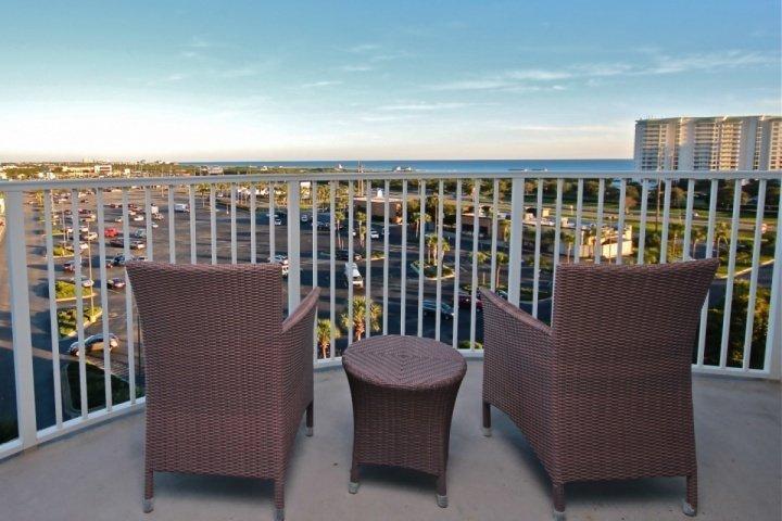 Enjoy the beautiful gulf views from the balcony