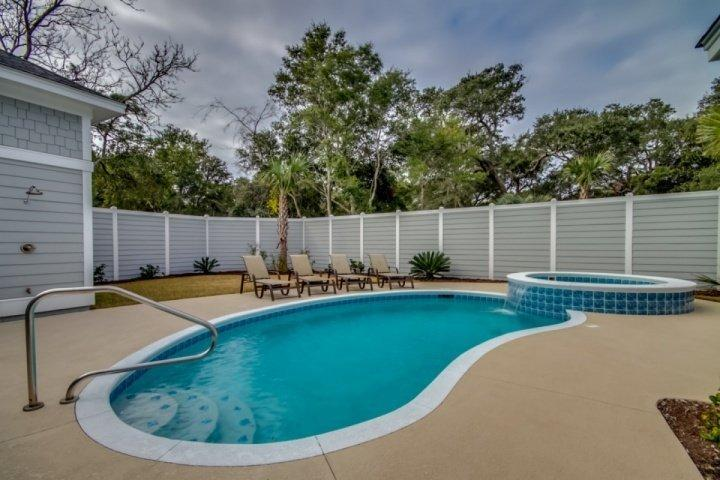 PRIVATE POOL & HOT TUB. PRIVATE POOL NOT HEATED, HOT TUB IS HEATED.