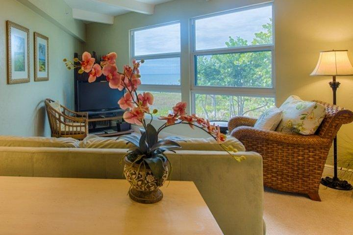 Wohnzimmer mit Blick auf den Golf