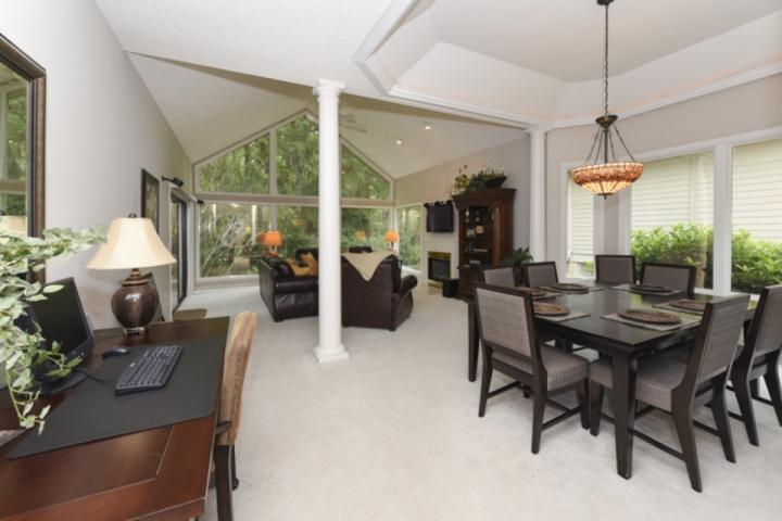 Open Floor Plan Dining and Family Rooms