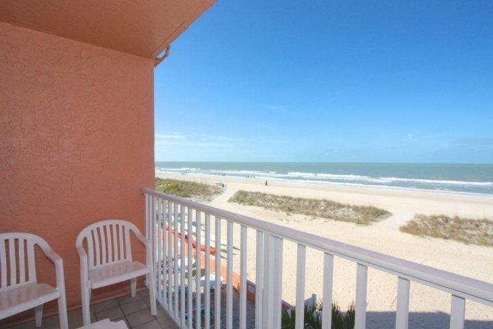 Private balcony overlooking Treasure Island Beach off the Gulf of Mexico