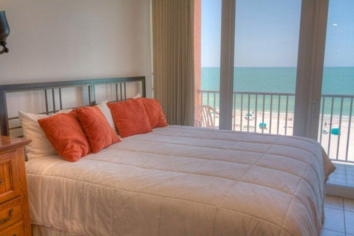 King Size Bed with a Beachfront View