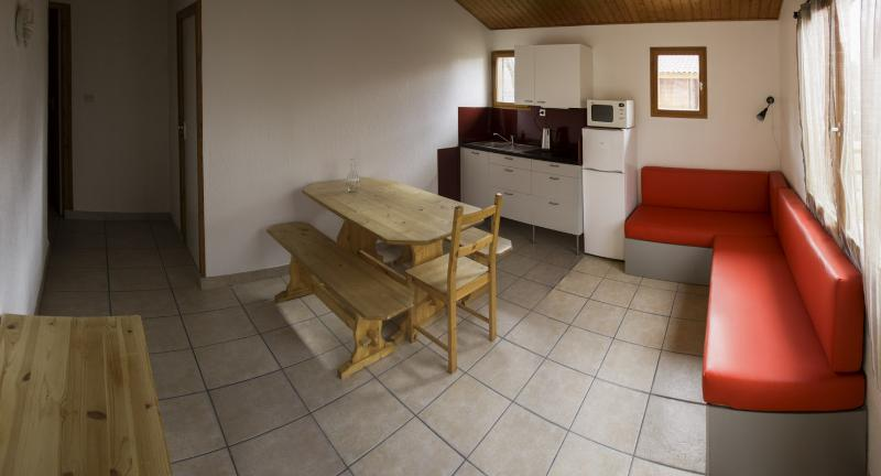 Interior of the chalets.