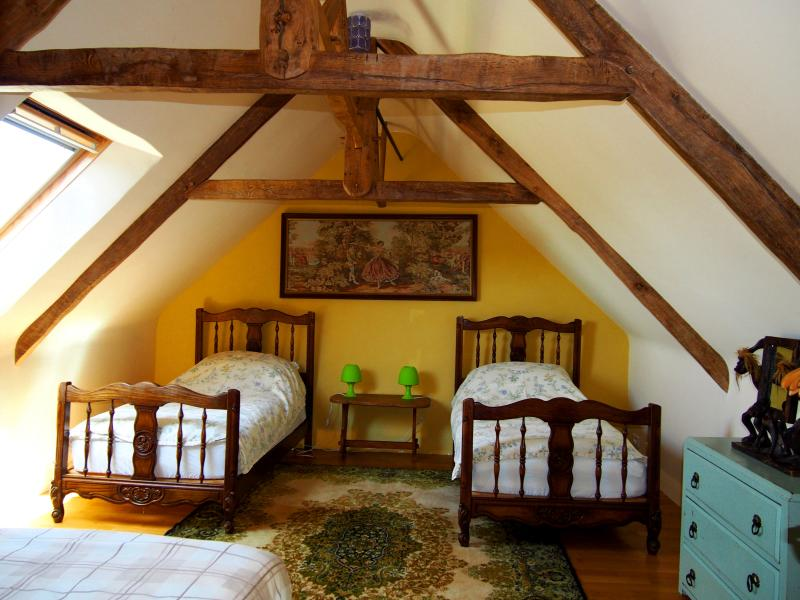 2nd floor. Chambre Herisson (Hedgehog) with additional fold down double sofa bed.