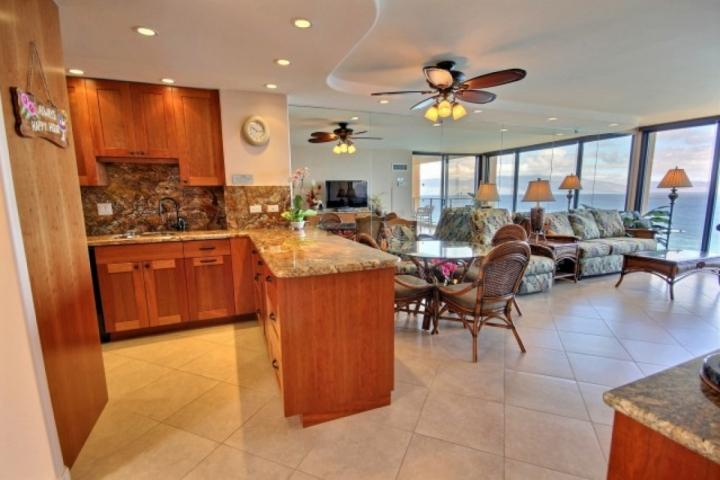 Prepare home cooked meals in this beautiful kitchen.