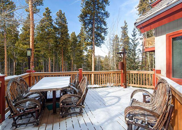 Happy Trails Lodge Deck Breckenridge Hébergement Locations de vacances