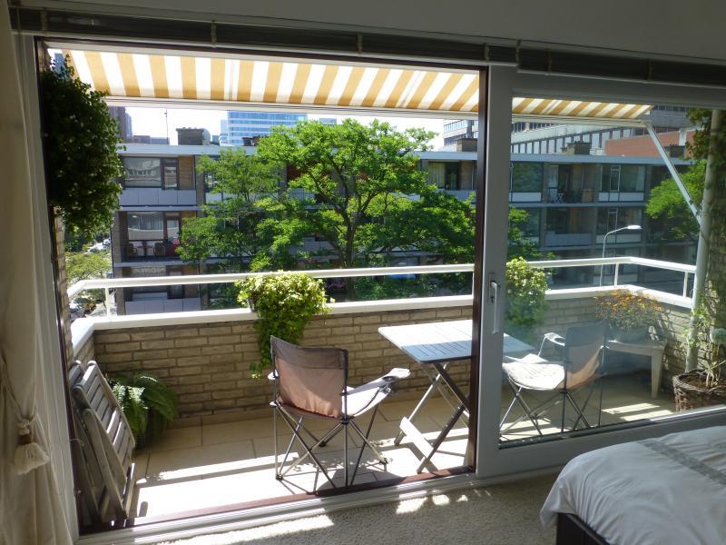 Streetside balcony